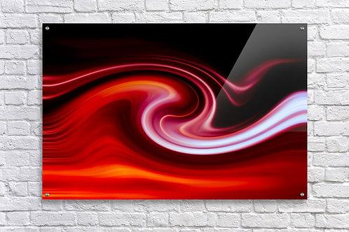 'Lava Wave Cherry' - Acrylic Print 24x36