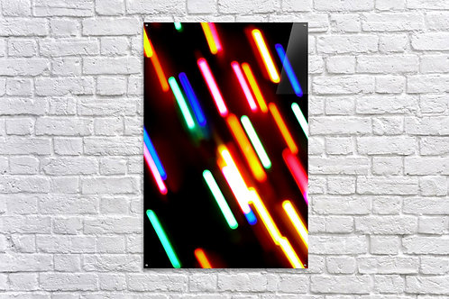 'Rainbow Rain' - Acrylic Print 24x36