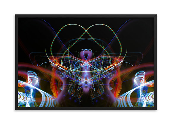 24X36 Flux Lumi Framed photo paper poster