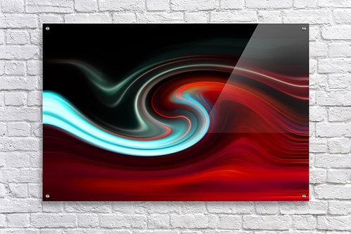 'Lava Wave Frost Kiss' - Acrylic Print 24x36