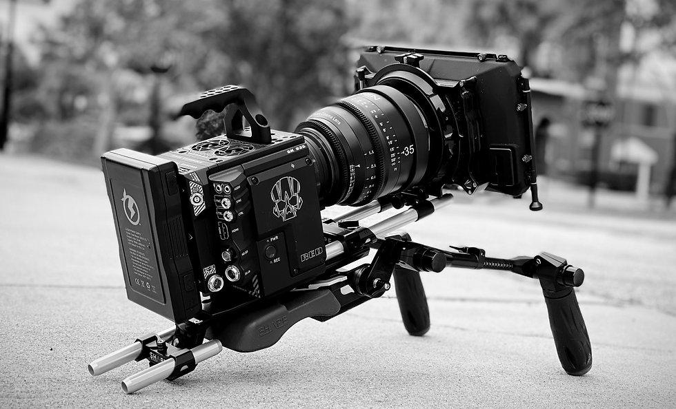 RED digital cinema camera rig