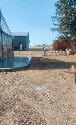 Derek Tabler Working Concrete