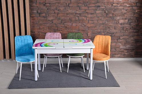 Renkli Halka Masa Takımı