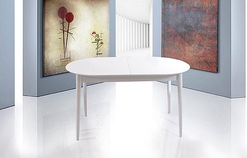 Oval Retro Beyaz Masa
