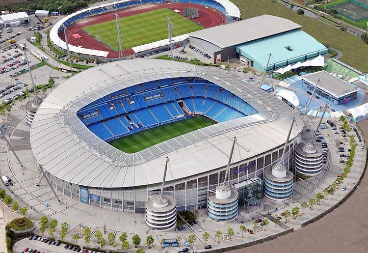 The Etihad Stadium, home to Manchester City