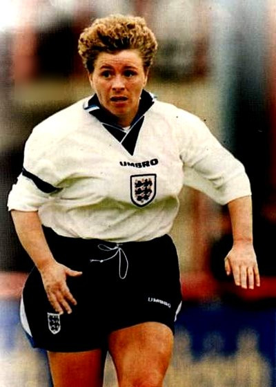 Gill Coultard playing for England