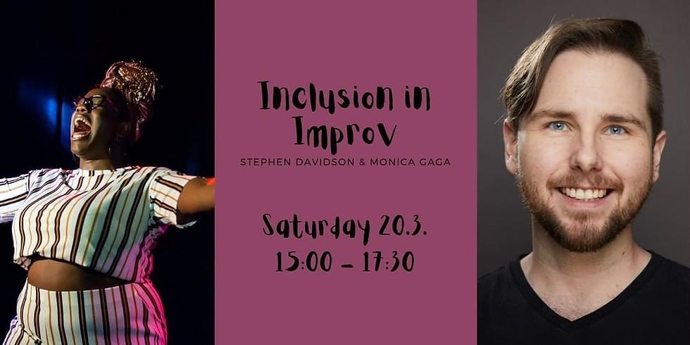Inclusion in Improv Taster   Stephen Davidson & Monica Gaga   Improv Fest Online