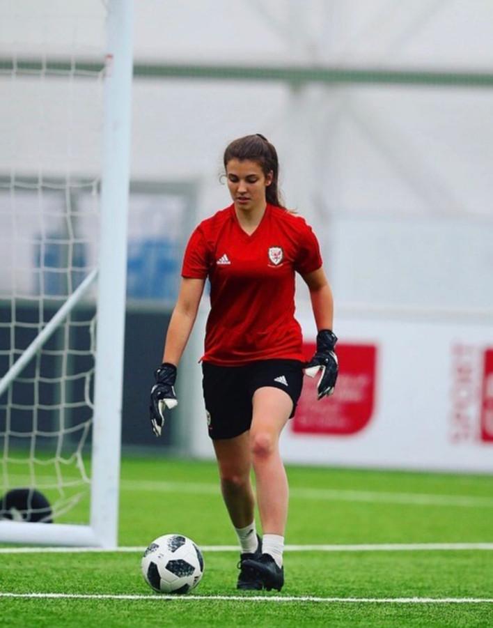 Huddersfield goalkeeper Olivia Clark