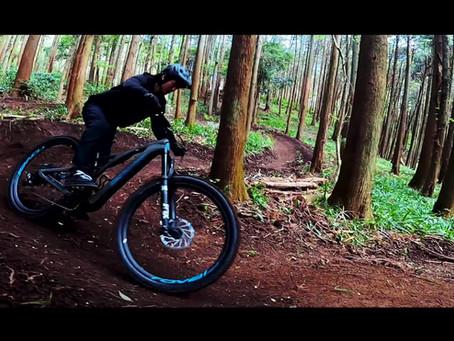 いこいの森でマウンテンバイク