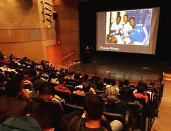 Talking #soccer with NRHS students for the _mbknewro community read #ONEGOAL from _hachettebooks wit