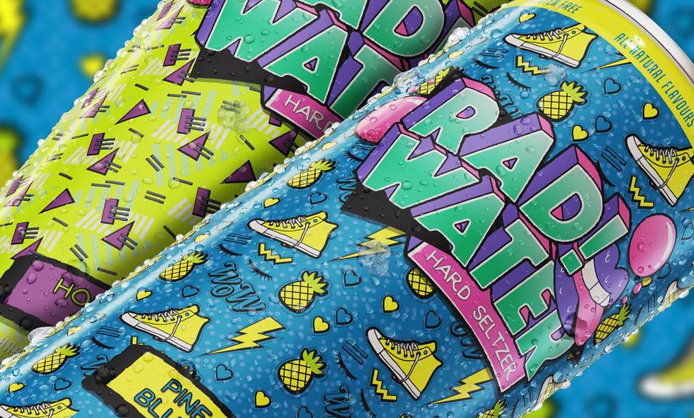 4-pack RAD!Water Hard Seltzer