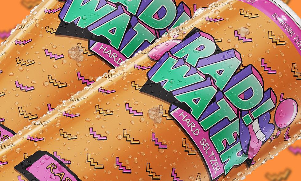 4-pack RAD!Water - Raspberry Mango