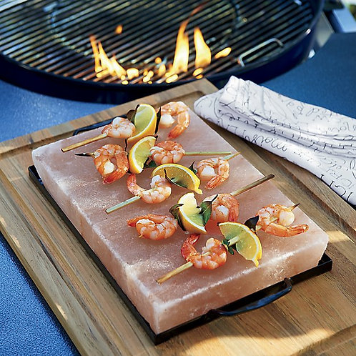 Himalayan Salt Cooking Slab | with Metal Tray