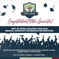 100% of Petra College graduates are employed