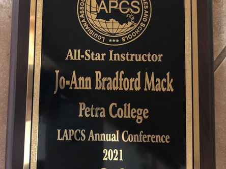 Petra College Congratulates Joann Mack as an All Star Instructor