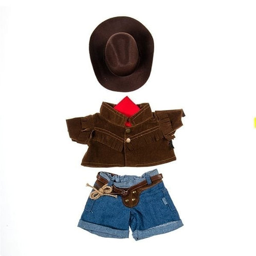 Cow Girl/Boy Outfit with Hat