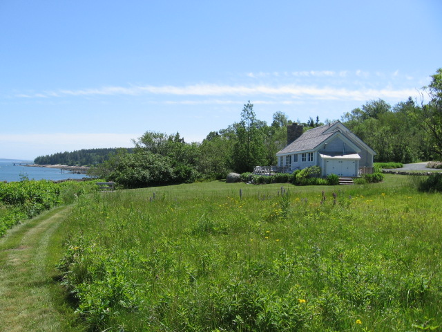 view of cottage from lower meadow