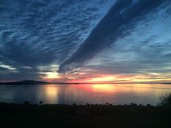 autumn sunrise with clouds
