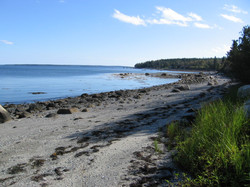 view of private beach looking south