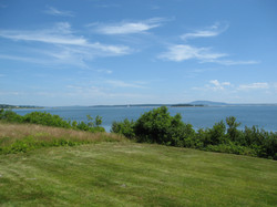 view looking up Blue Hill Bay