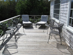 sitting area on oceanside deck