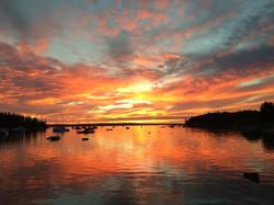 sunset, Center Harbor, Brooklin