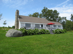 oceanside view of cottage