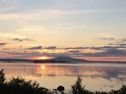 summer sunrise ripples