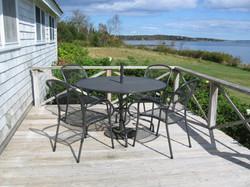 dining area on oceanside deck