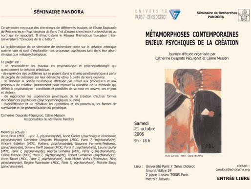 MÉTAMORPHOSES CONTEMPORAINES – 2006