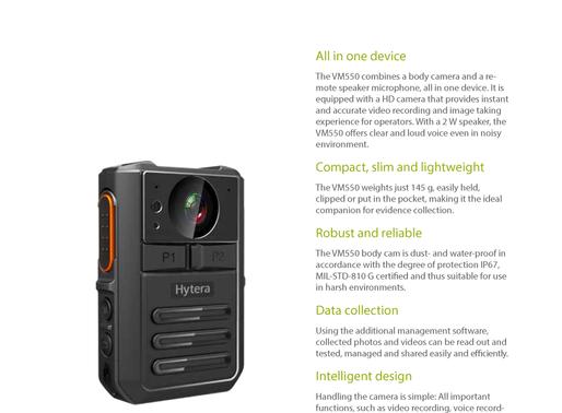 Hytera VM550 Remote Video Speaker Microphone