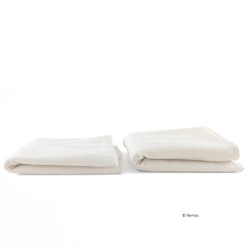 Lot 2 absorbants lavables en coton biologique Hamac Paris
