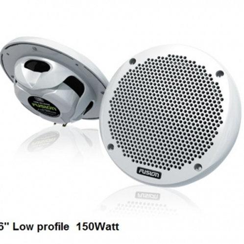 "FUSION MS-EL602 6"" 150 Watt 2-Way Speakers (Low profile)"