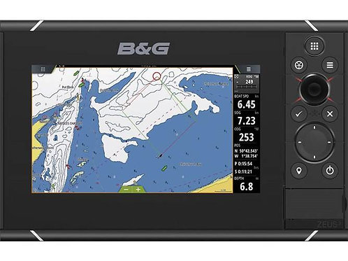 B&G Zeus³  chartplotter with world basemap