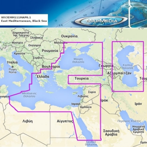 MAPMEDIA Charts for East Mediterranean (TZTL 12/15F)