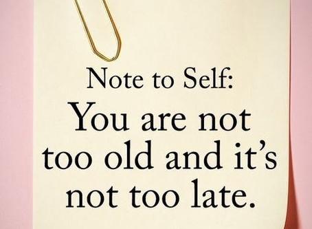 Det er aldri for sent med en god endring!