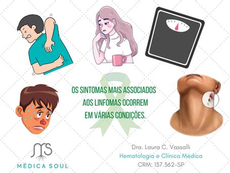 Sintomas associados a Linfomas