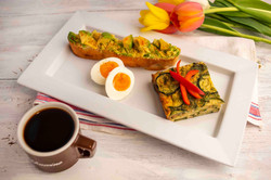 Frittata roasted vegetables with eggs and Avocado toast + coffee.jpeg
