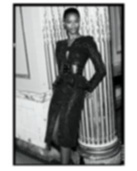 bergdorf goodman evening campaing, model mayowa nicholas wearing Michael Kors
