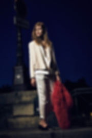 Laura Julie Iro Paris cozy apartment france sexy chic pink gap night time cais marais boat river lights nighttime