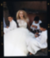 Bridal Wedding shoot in Morocco, Marakesh editorial for Jenny Packham playing cards with the kids