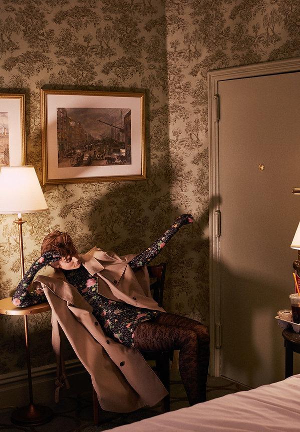 Jac Monika for Viva Moda in NYC, chelsea hotel style, by Will Vendramini