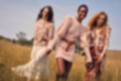 Intermix Fall 18 Campaign, models on tall grass, fashion