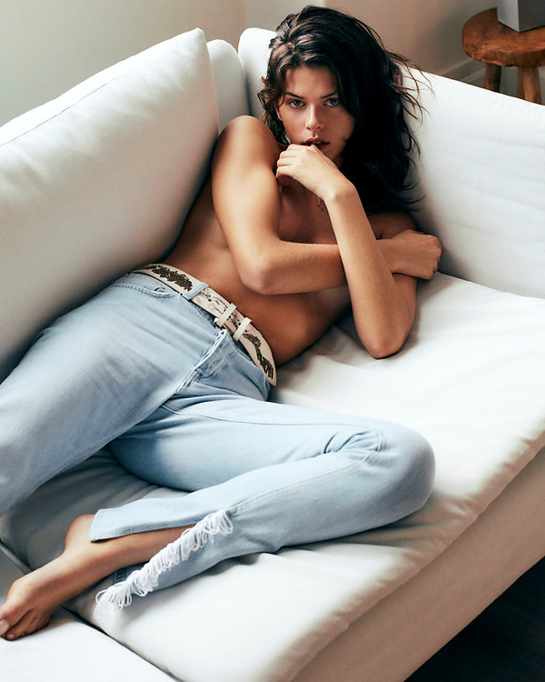 Georgia Fowler for Costume Magazine by Will Vendramini - Topless on couch