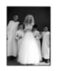 Bridal Wedding shoot in Morocco, Marakesh editorial for Jenny Packham portrait with local kids