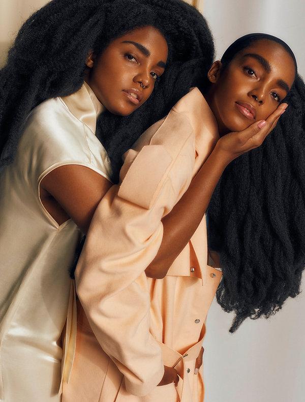 tk wonder and cipriana quann together for elle magazine