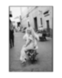 Bridal Wedding shoot in Morocco, Marakesh editorial for Jenny Packham ending on the motorcycle