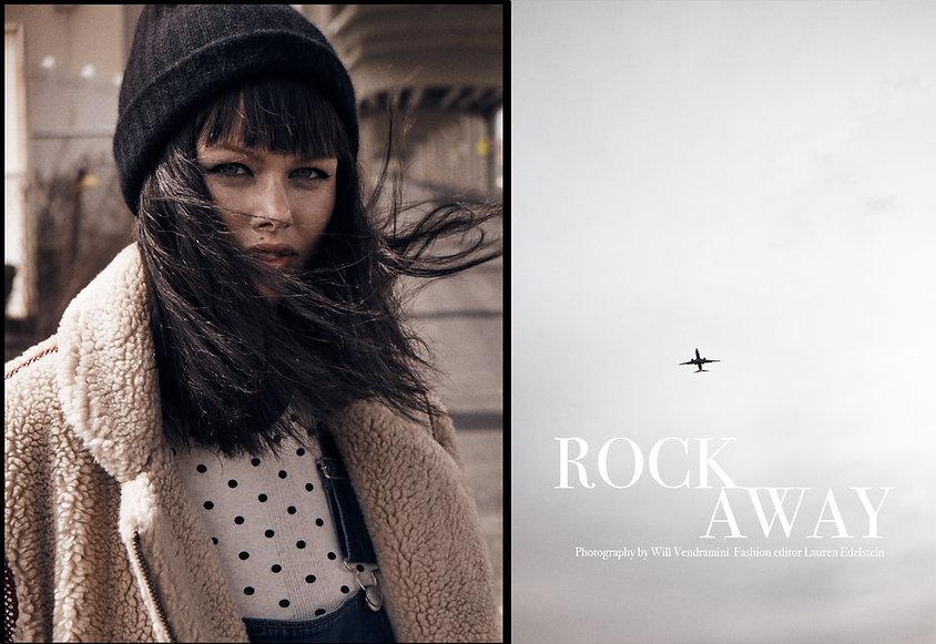 Emma Stern Nielsen blonde dark hair wig magazine shopbop editorial rockaways rockaway beach smile