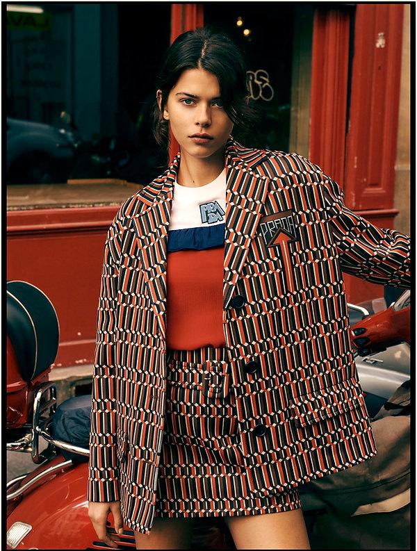 Georgia Fowler for Costume Magazine by Will Vendramini - Red in Paris PRada