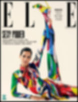 Elle Magazine Amanda Wellsh wearing Versace and McQueen for the cover of Elle Brasil may 18 issue